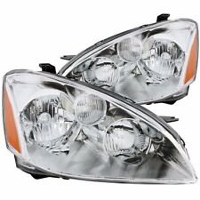 Aftermarket Headlight Pair Left and Right Sides For 2002-2004 Nissan Altima