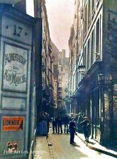 Autochrome Photo, Rue Inconnue, Paris, early 1900s