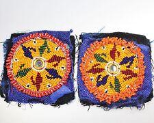 Tribal Kuchi Perlenmedaillons, 1 Paar Tribal DIY Perlenaufnäher 7 cm Durchmesser