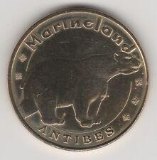 A 2013 TOKEN MEDAILLE SOUVENIR MDP -- 06 600 N°7 ANTIBES MARINELAND OURS BEAR