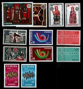 ANDORRE : EUROPA 1970 à 1975, Neufs ** = Cote 219 € / Lot Timbres DOM TOM