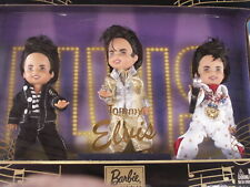 Barbie Family Tommy As Elvis! 3 Doll Boxed Set! Kelly-Sized Articulated!