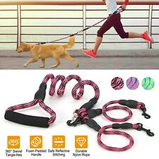 Dual Double Dog Leash No Tangle Coupler Nylon Leash for Two medium / Small Dogs
