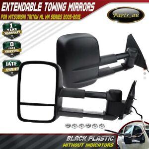 Power Extendable Towing Mirrors w/o Indicators for Mitsubishi Triton ML MN 05-15