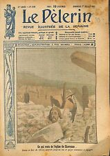 Portrait Statue Jesus Christ Eglise de Chavonne l'Aisne  WWI 1917 ILLUSTRATION