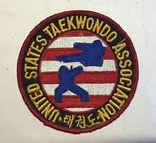 Vintage United States Taekwondo Assocation Patch Korea Karaté Martial Art Mma