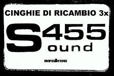 ★ KIT CINGHIE DI RICAMBIO 3 x PROIETTORE SUPER 8 mm SILMA SOUND 455 ★