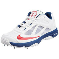 *NEW* NIKE LUNAR DOMINATE CRICKET SHOES / SPIKES / BOOTS, White/Blue