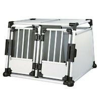 Aluminium Double Car Transport Dog Travel Crate