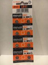 Maxell Lr41 8 Battery Ag3 192 Pack Cell Batteries Button Watch Alkaline New 392
