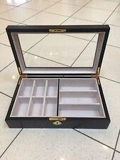 Dark Ebony Wood Jewellery Display Box