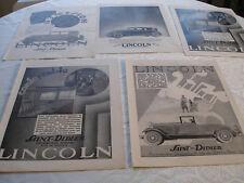 5 PUBLICITES PRESSE AUTOMOBILES LINCOLN SAINT-DIDIER ANNEES 30