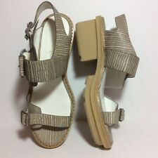 New 495 3.1 Phillip Lim Mallory Chunky Platform Sandals Beige Sz 39.5 or 9.5