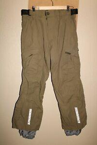 "ALPHANUMERIC Mens medium M 32-34""W 30""L Nylon Snow/Snowboard Pants"