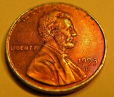 1995-D Silver Ring ERROR Lincoln 1c Penny.