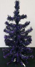 Black & Purple 2ftT Christmas Tree, Team Colored, Spirit Tree