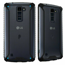 For LG K7 / Tribute 5 (2016) + Clear Shockproof 360° Bumper TPU Cover Case Black