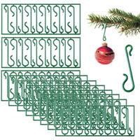 10pcs Reusable Christmas Tree Hooks Bauble Ornament Hangers Decoration Green