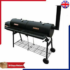 Outdoor Smoker BBQ Barbecue Black Outdoor Cooking Double Grill Box Appliance