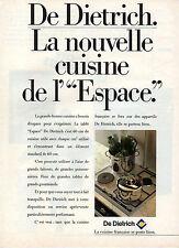 Publicité 1987  Appareil De Dietrich  la cuisine francaise