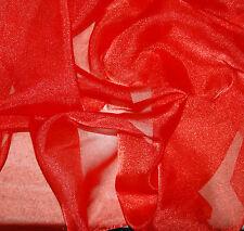 5 YARDS Sparkle Organza Sheer Orange Fabric Luxurious Wedding Decor Crafts Sew