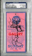 Payne Stewart Jack Nicklaus Scott Simpson Signed 1991 U S Open Ticket Psa/Dna