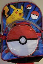 Nintendo Pokemon Pikachu 16-inch Backpack with Pokeball Lunch Box Brand New 2016