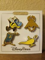 Disney Parks* ALADDIN * New 4 Pin Themed Set on Card - Character Trading Pins