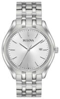 Bulova Men's Quartz Silver-Tone Dial Silver-Tone Bracelet 41mm Watch 96B264