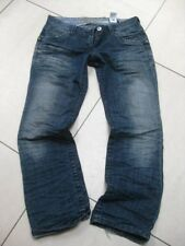 size UK 12 petite LADIES womens NEXT DENIM faded blue JEANS straight leg
