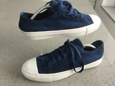 Rare Blue Suede Leather Converse Lowlace New Defects See Pics Uk9/42.5
