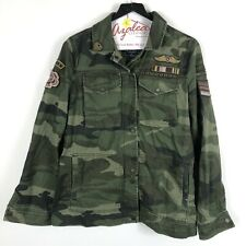 Abercrombie & Fitch Patch Military Camo Jacket Size S Women's NWT