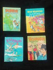 Lot of 4 Big Little Books Bonanza, Woody Woodpecker, Flipper, Popeye