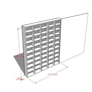 1:64 Diecast Model 50 spaces Display Case Cabinet & Lid 47.2Lx53.7Hx5.4Wcm