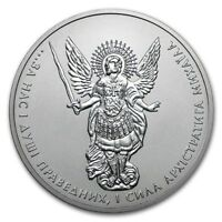 2018 Ukraine 1 Hryvnia Archangel Michael 1 oz .9999 Silver Coin