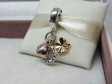 New w/Box Pandora Horseshoe Clover & Ladybird w/ ROSE & SHINE Charm # 797852CZ
