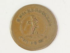 Civil War Token Knickerbocker Currency Iou 1 Cent Coin