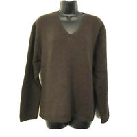 Easy Spirit Womens 2X (3) Brown Sweater Chunky Knit V Neck Long Sleeve Soft
