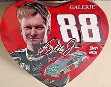 DALE EARNHARDT JR. 2011 #88 HEART SHAPED COLLECTIBLE TIN W/11 CHERRY LOLLIPOPS