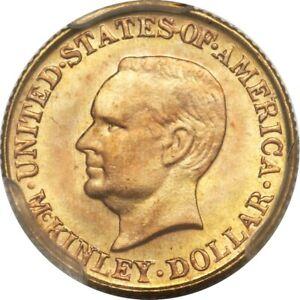 NQC 1917 G$1 McKinley Gold Dollar MS 67 Rare Graded