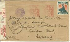 South Africa POSTAL METERS-TB SEAL(1942)-WWII CENSORS to BAHGDAD