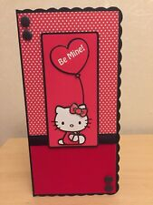 HAND MADE personalizzata giorno S. Valentino decoupaged Hello Kitty CARD 7