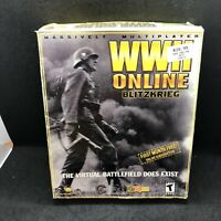 WWII ONLINE BLITZKRIEG VIRTUAL BATTLEFIELD PC CD ROM COMPLETE BIG BOX PC