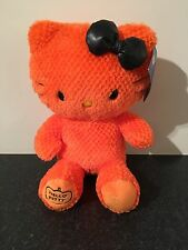Rare NEW Orange Build A Bear Hello Kitty With Original Bow And Tags Approx 18""