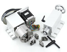 CNC 4th A Axis,4-Jaw Claw 80mm Chuck,NEMA23 Router Rotational Axis + Tailstock