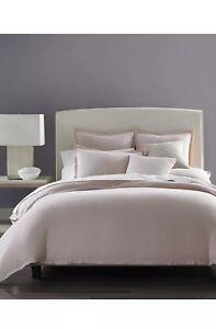 Hotel Collection Solid Linen Rosequartz KING Duvet Cover & Two Standard Shams.