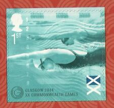 Great Britain 2014 Commonwealth games sport zwemmen zelfklevend   POSTFRIS/MNH