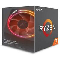 AMD Ryzen 7 2700X CPU with Wraith Cooler AM4 3.7GHz (4.3 Turbo) 8-Core 105W 20MB