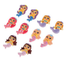 10x Flatback Button DIY Phone Case Hair Accessories Jewelry Findings Mermaid