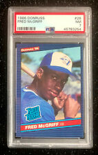 1986 Donruss Rated Rookie Fred McGriff #29 Baseball Toronto Blue Jays PSA 7 NM